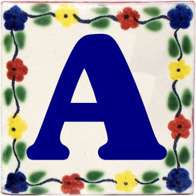 Bouquet Talavera Clay House Letters