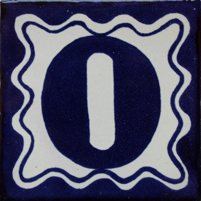Blue Talavera Tile Numbers