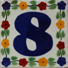 Load image into Gallery viewer, Bouquet Talavera Tile Numbers