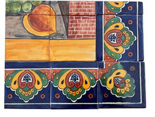 Load image into Gallery viewer, Fruit & Oil Bodegon Clay Talavera Tile Mural