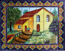 Load image into Gallery viewer, La Casita Clay Talavera Tile Mural