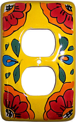 Canary Talavera Single Duplex Outlet Switchplate