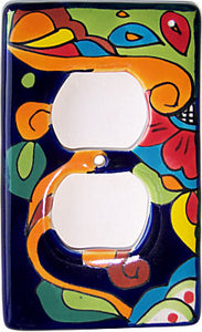 Rainbow Talavera Single Duplex Outlet Switchplate