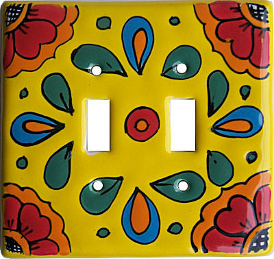 Canary Talavera Double Toggle Switch Plate