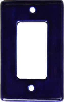 Cobalt Blue Talavera Single Decora Switchplate