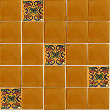 Load image into Gallery viewer, Yellow Talavera Mexican Tile