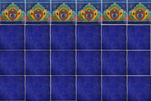Load image into Gallery viewer, Cobalt Blue Talavera Mexican Tile