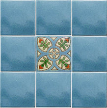 Load image into Gallery viewer, Alhambra Cyan Perpignan Mexican Tile