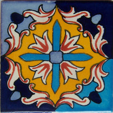Load image into Gallery viewer, Aqua Fire Talavera Mexican Tile