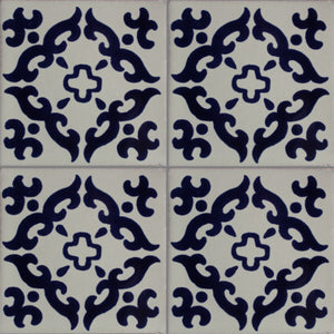 Blue Barroco Talavera Mexican Tile