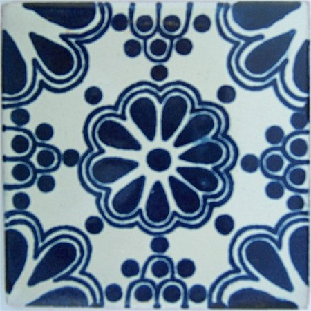 Blue Bouquet Talavera Tile