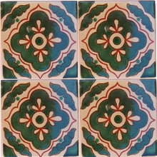 Load image into Gallery viewer, Green Toledo Talavera Mexican Tile