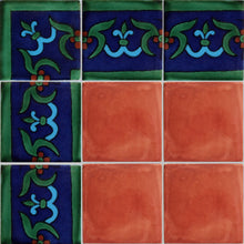 Load image into Gallery viewer, Blue Liz Flower Talavera Mexican Tile