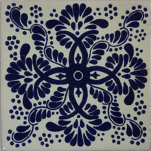 Load image into Gallery viewer, Blue Web Talavera Mexican Tile