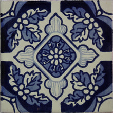 Load image into Gallery viewer, Blue Poinsettias Talavera Tile