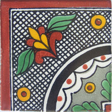 Load image into Gallery viewer, Corner Black Arc Talavera Mexican Tile