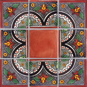 Corner Black Arc Talavera Mexican Tile