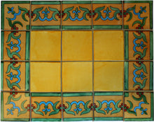 Load image into Gallery viewer, Corner Yellow Liz Flower Talavera Mexican Tile