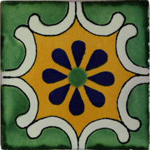 Load image into Gallery viewer, Arab Green Talavera Mexican Tile