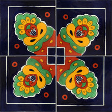 Load image into Gallery viewer, Corner Royal Crown Talavera Mexican Tile