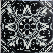Load image into Gallery viewer, Black Romalio Talavera Mexican Tile