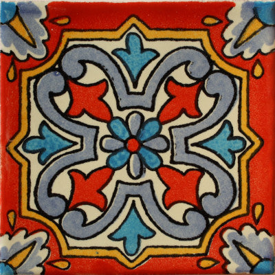 Red Picota Talavera Mexican Tile