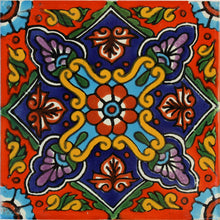 Load image into Gallery viewer, Taretan Talavera Mexican Tile