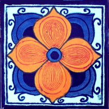 Load image into Gallery viewer, Marigold Talavera Mexican Tile