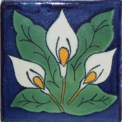 Three Lily Design Talavera Mexican Tile