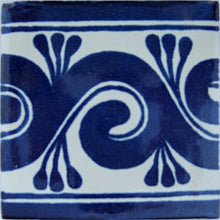 Load image into Gallery viewer, Caracol Azul Talavera Mexican Tile