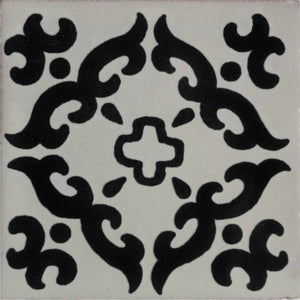 Black Barroco Talavera Mexican Tile
