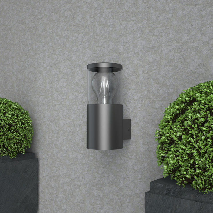 101 Silver/Black Outdoor Wall Light(Bulb not Included)