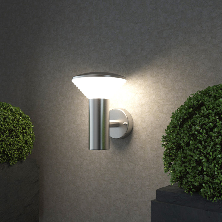 011AUP Silver Outdoor Wall Light