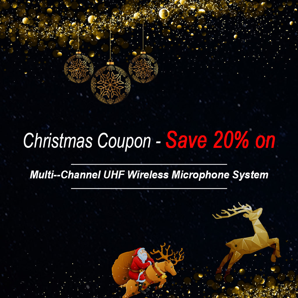 Christmas Coupon - Save 20% on Multi--Channel UHF Wireless Microphone System