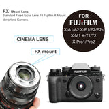 Meike MK-25mm T2.2 Cine Lens for Fujifilm X Mount Cameras