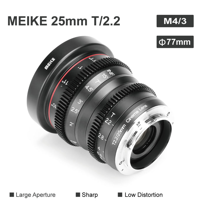 Meike Cine Lens 25mm T2.2 for MFT-Fast Delivery