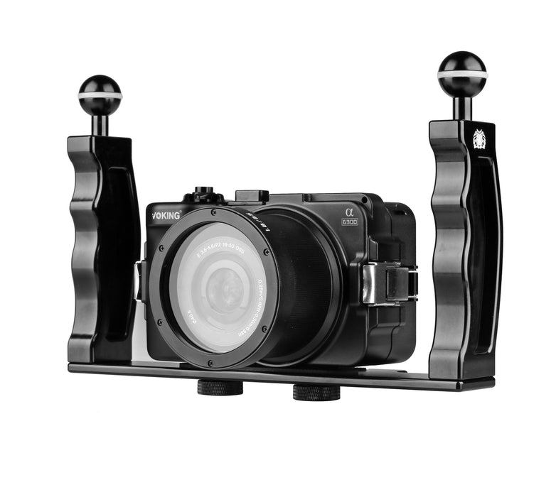 Voking VK-01 Aluminum Waterproof case dual-hand light arm tray diving equipment bracket suitable for SLR photography bracket camera