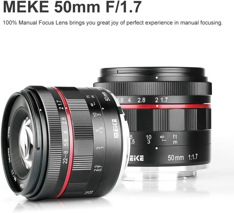 Meike 50mm f1.7 Manual Focus Lens for Micro 4/3 Mount Mirrorless Cameras