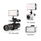 Meike S150 Panel LED Camera Video Lighting 150 Dimmable Lamp with in-Built Rechargeable Battery for Camcorder Camera and Smartphone