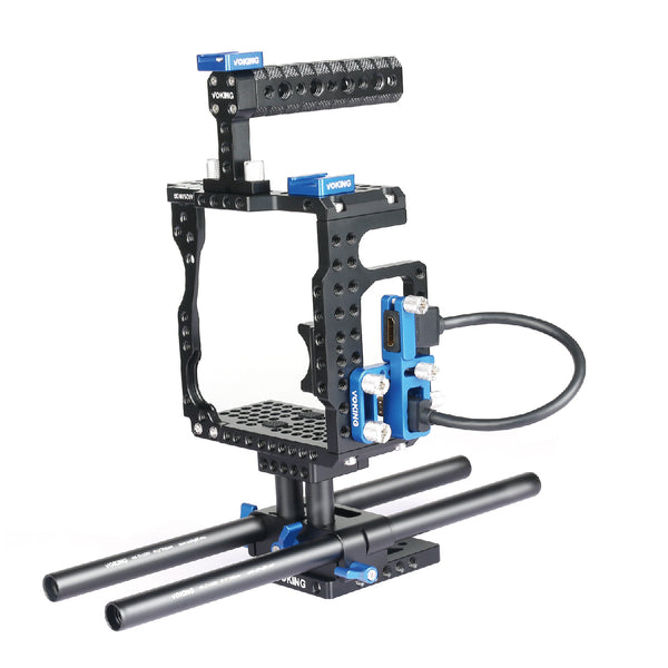 Voking VK-5D4B Aluminum Alloy Camera Video Cage Kit for Cameras Canon 5D3 5D4