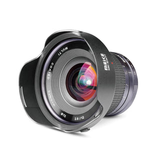 Meike 12mm f/2.8 Ultra Wide Angle Manual Fixed Lens with Removeable Hood for MFT Micro Four Thirds Panasonic/Olympus Mirrorless Camera-Fast Delivery