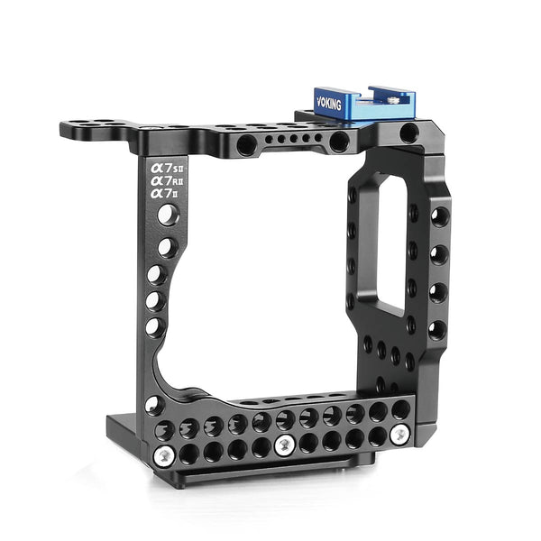 Voking Aluminum Alloy VK-A7IIC Camera Video Cage with Detachable Quick Release Plate for Sony Alpha A7SII A7RII A7II