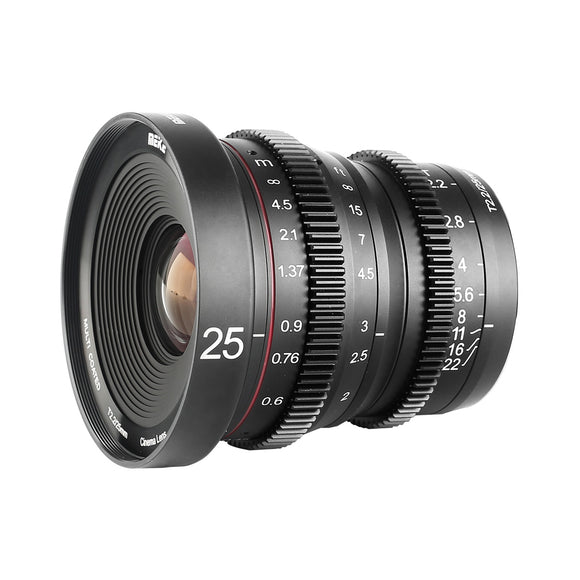 Meike Cine Lens MK-25mm T2.2 Sony E Mount Cameras-Fast Delivery