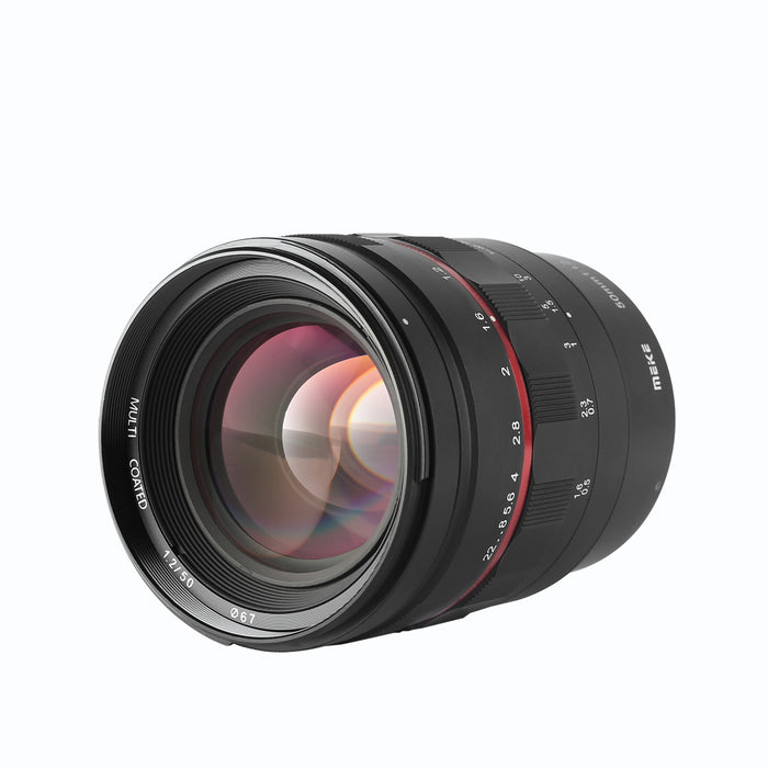 Meike 50mm F1.2 Large Aperture Manual Focus Lens for Canon EOS RF Mount-Fast Delivery