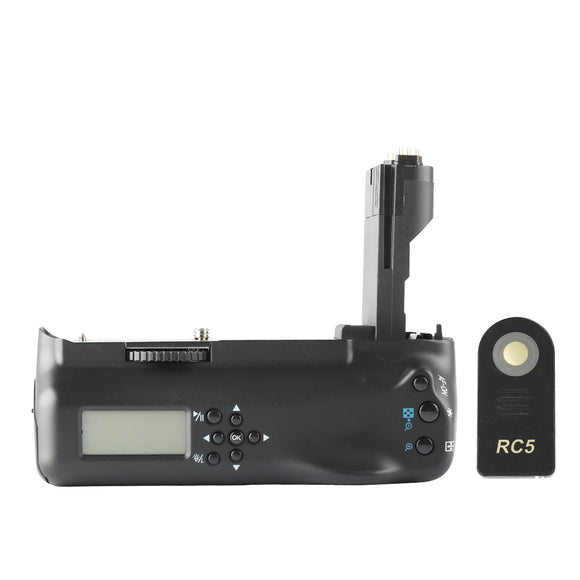 Meike MK-7DL Professional Vertical Battery Grip Holder Muti-Power with Remote Control for Canon 7D as BG-E7