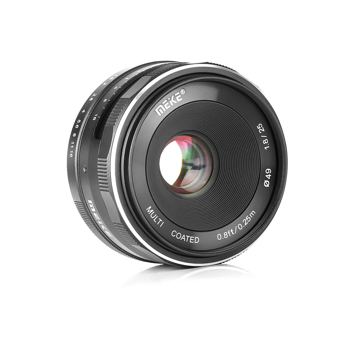 Presell:Meike MK 25mm F1.8 Large Aperture Wide Angle Lens Manual Focus Lens for Olypums Panasonic Micro 4/3 Mount Mirrorless Cameras-Fast Delivery