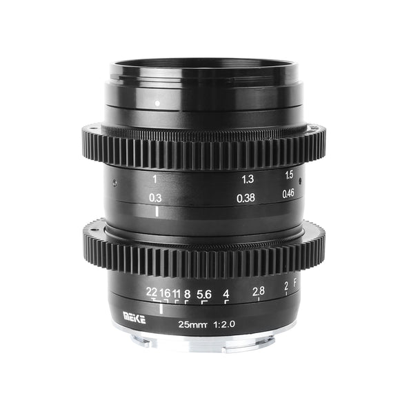 Meike 25mm F2.0 M43 Large Aperture Low Distortion Wide Angle Maunal Sharp Lens for Olypums Panasonic MFT Mount Mirrorless Cameras-Fast Delivery