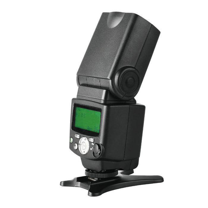 Meike MK431 E-TTL LCD Display Speedlite Shoe Mount Flash for Canon EOS 70D 77D 80D Rebel T7i T6i T6s T6 T5i T5 T4i T3i SL2 and Other Eos Digital DSLR Camera with Standard Hot Shoe Stand