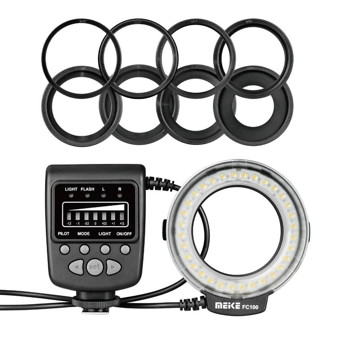 Meike FC-100 LED Macro Ring Flash light for Nikon and Canon Camera