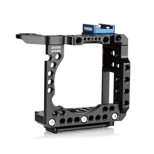 Voking Aluminum Alloy VK-A6500C Camera Video Cage with Detachable Quick Release Plate for Sony Alpha A6500 A6300